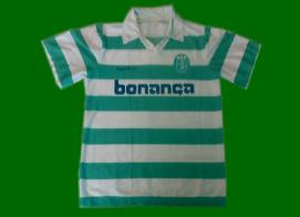 Equipamento do Sporting contrafeito, produção nacional, 1990 1991 1992