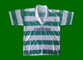 Sporting Lisbon counterfeit young child jersey Casteloes 94 95