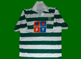 Equipamento do Centenário do Sporting parecido com o original, mas não é oficial 2005 2006