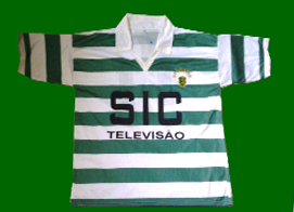 Sporting Lisbon counterfeit top, personalized with number 11