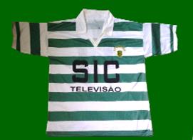 Equipamento do Sporting contrafeito Personalizada com o nº 11, correspondente a avançado ponta de lança
