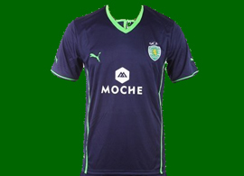 2013/14. Sporting Lisbon home model made in China cheap fake jersey, counterfeit
