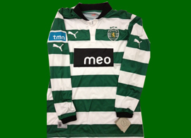 2012/2013. First longsleeved counterfeit Sporting Lisbon jersey we have ever seen