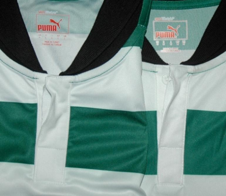 Camisola do Sporting oficial vs contrafeita: a gola