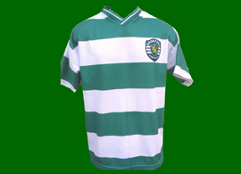 camisola falsa do Sporting vinda do Brazil