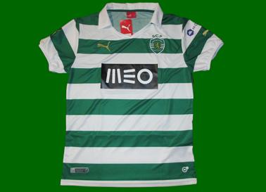 2013/14. Equipamento listado contrafeito do Sporting, comprada no olx