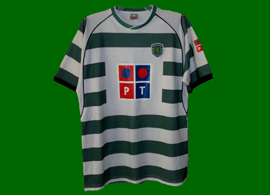 Strange Sporting Lisbon top with PT sponsorship in color 2002 03
