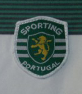 Weird Sporting Lisbon shirt with PT sponsorship in colour 2002 03