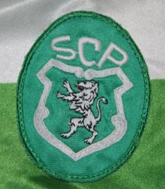 Sporting Lisbon fake soccer jersey, sponsor FAXE Danish beer