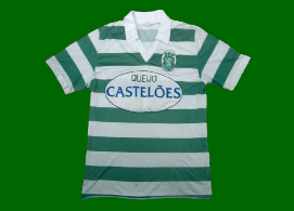 Queijo Casteloes sponsor. Counterfeit, but very carefully made crest, with a beautifully stitched lion