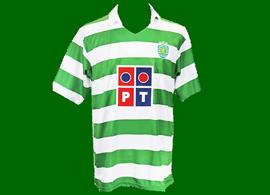 2005/06. Camisola contrafeita do Centenário do Sporting, muito mal feita e com um verde shocking horrível
