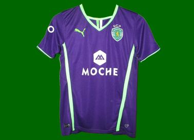 2013/14. Equipamento alternativo violeta contrafeito do Sporting, comprado no olx