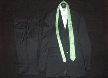 Suit worn by Rui Patrício, designed by the stylis Fátima Lopes