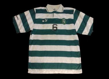 Anos 1990. Camisola o Andebol do Sporting. Marca Puma, patrocínio Tecnesco