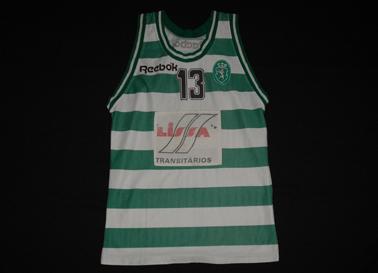1993/94 ou 1994/95. Camisola da formação do Basquetebol do Sporting