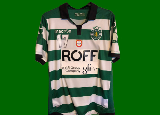 2015/16. Camisola do Futsal do Sporting do Cavinato