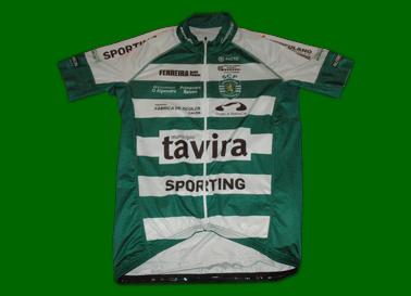 Camisola do Ciclismo, Sporting/Tavira, réplica vendida pela marca Pacto. Mangas curtas