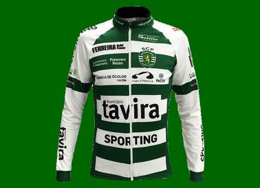 Camisola do Ciclismo, Sporting/Tavira, réplica vendida pela marca Pacto. Mangas compridas