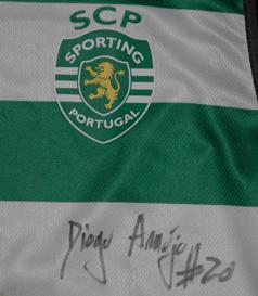 2019/20. Camisola de Basquetebol Macron do Sporting, usada em jogo por Diogo Araújo