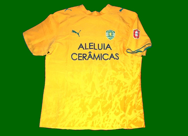 Away yellow jersey match worn by Deo 2006/07, futsal
