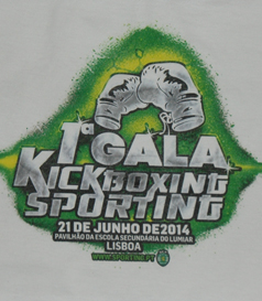 T-shirt from the 1st Sporting Lisbon Kickboxing Gala, 21 June 2014