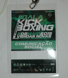 T-shirt from the second Sporting Lisbon Kickboxing Gala, 2 May 2015