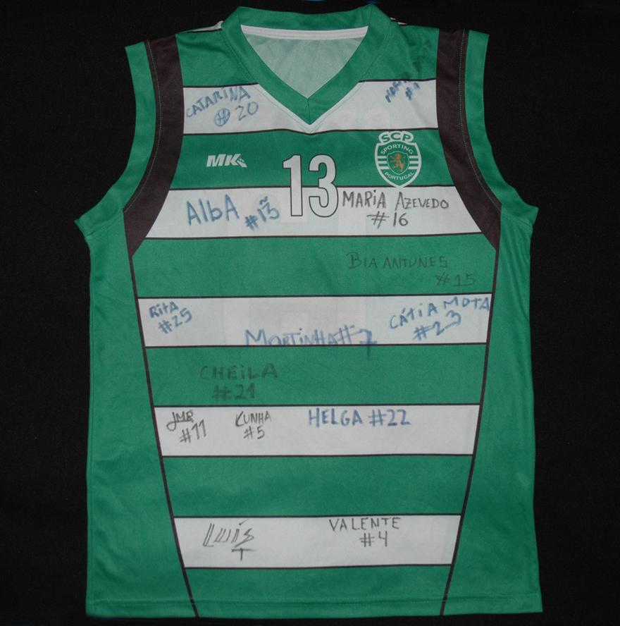 Camisola da Joana Brites, do basquetebol do Sporting