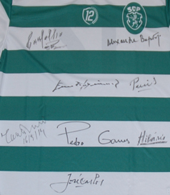 signed by the players who won the Cup Winners Cup in 1964 in Antwerp
