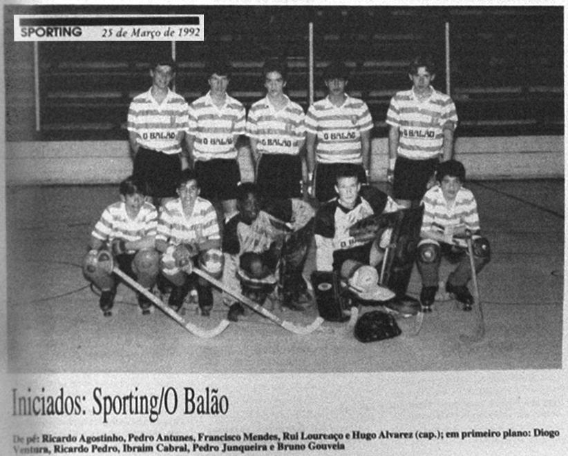 Sporting/O Balão: Iniciados do hóquei em patins em 1992