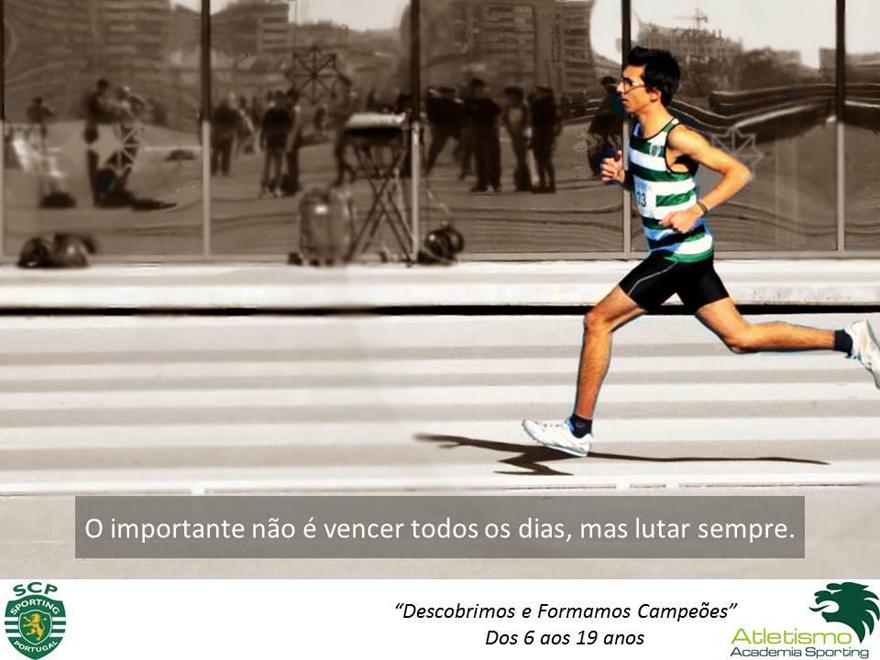 Pedro Vilaverde em competição, numa foto da Academia Sporting de Atletismo