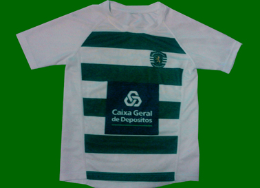 Sporting rugby youth jersey, sponsor CGD<