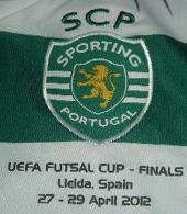 Camisola usada pelo jogador de futsal Préa na Futsal Finals em Lleida, Espanha, 27-29 de Abril de 2012