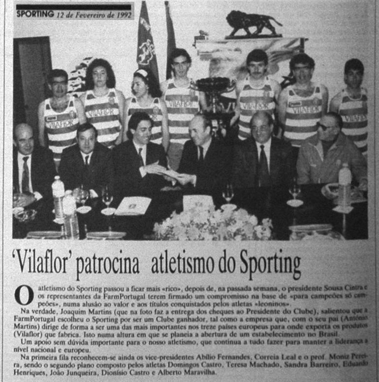 Vila Flor: Atletismo em 1992