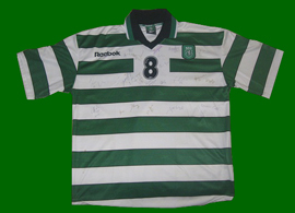 Camisola de andebol do Sporting 2002 03 assinada