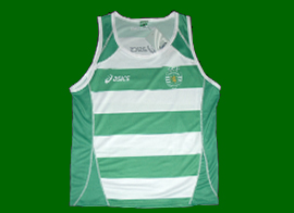 Sporting Lisbon top made by the japanese brand Asics, Singlet Moniz