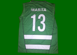 Matchworn by a Sporting Lisbon female basketball player, and signed by the entire 2012/13 squad