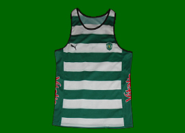 Competition top from a Sporting Lisbon athlete. Puma 2006 2007