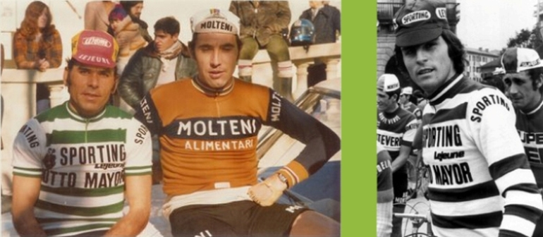 equipamentos vintage do ciclismo do Sporting: Joaquim Agostinho e Firmino Bernardino
