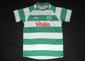 Sporting Lisbon handball home shirt hooped 2012/13