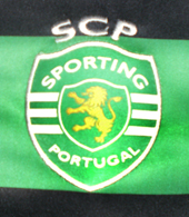 Sporting Lisbon Asics handball away jersey, in beautiful green/black hoops 2012/13