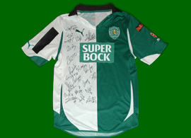 2012/2013, Stromp futsal jersey, match worn by Paulinho and signed by the entire 2012/13 squad