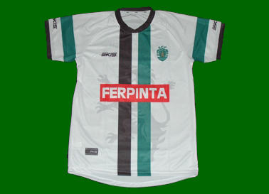 2013/14. Away replica Sporting Lisbon roller skate hockey shirt