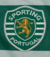 Camisola listada usada em jogo por Hernâni Bastos, jogador de hóquei em patins do Sporting