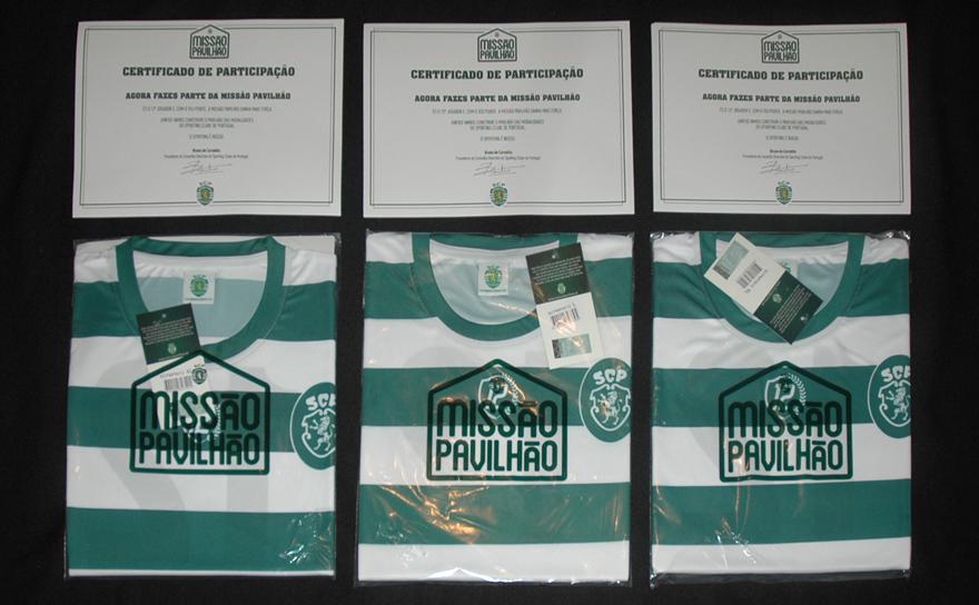 Missão Pavilhão - certificados