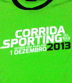 Shirt from the 3rd Sporting Lisbon race, 1 December 2013