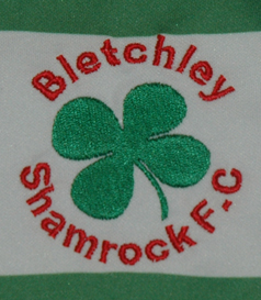 Bletchley Shamrock FC England. Match worn shirt from this club from Milton Keynes