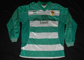 Caerleon Junior Youth FC Wales match worn shirt