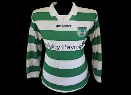 camisola de jogo Castleknock Celtic Irlanda Dublin verde branco Guinness