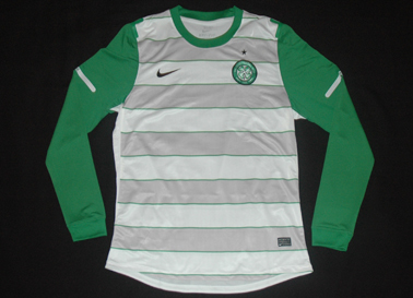 Equipamento Champions League Celtic FC Glasgow away shirt player issue