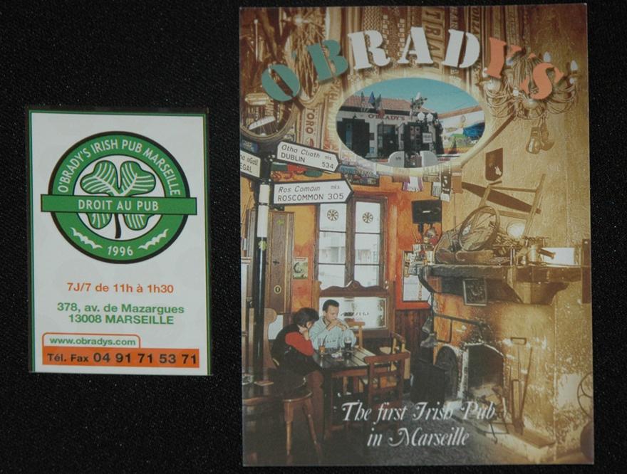 Irish Pub O'Brady's de Marseille - Celtic fans